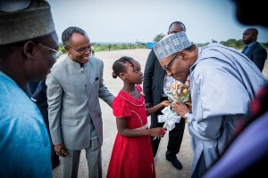President Buhari Welcomed In Grand Style In Kaduna