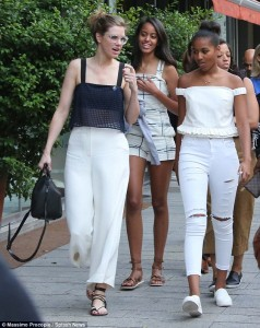 The Beautiful Obama Girls Go Shopping In Italy