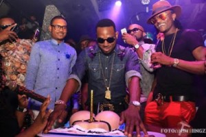 Photo : D'Banj Celebrates 35th Birthday Party With A Big Booty Cake