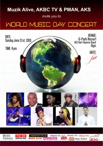 Uyo To Host World Music DAY 2015