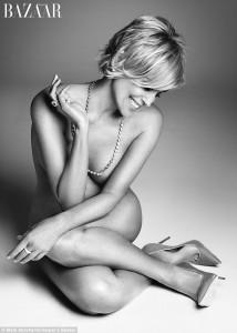 Photos : Sharon Stone Strips For Haper's  Bazaar