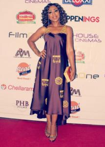 Photos : Dakore Akande Looks Beautiful At Movie Premiere