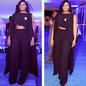 Photos : Omotola's Outfit At Elite Model Look 2015