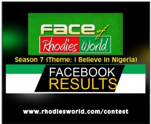 Facebook Results For FRW Season 7 (I Believe In Nigeria)