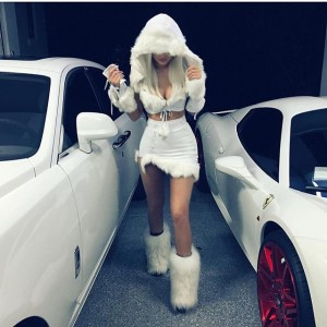 Kylie Jenner Is A Snow Princess For Halloween
