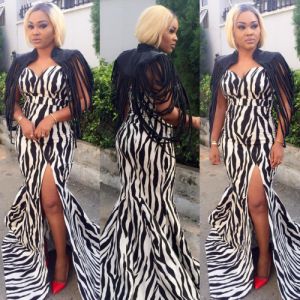 Check Out Mercy Aigbe Outfit To City People Fashion & Beauty Awards