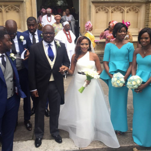 Photos : Dolapo Ooni And Prince Sijuade's White Wedding