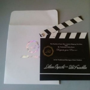Splendid! see Lilian Esoro and Ubi Franklin's Ingenious  Wedding Invitation Card