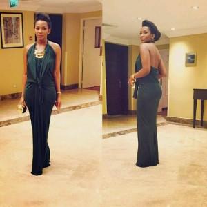Genevieve Nnaji Stuns In Black Dress For AFRIFF Closing Ceremony