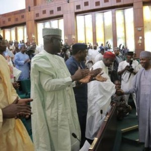 Senate President Bukola Saraki Gets Standing Ovation In House Of Reps