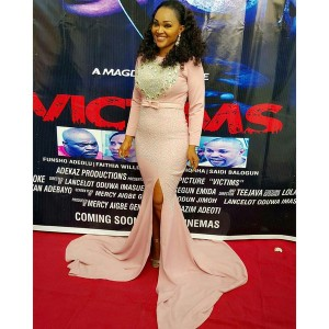 Mercy Aigbe Looks St At The Private Screening Of Her Movie