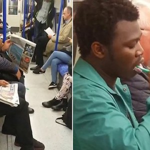 Photos : Man Pictured Brushing His Teeth On Train In London