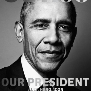 Barack Obama Photographed For An LGBT Publication | Covers OUT100 Magazine