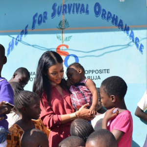 I Cried At The Thought Of Ever Complaining About Anything In Life – Karrueche As She Visited IDP In Abuja