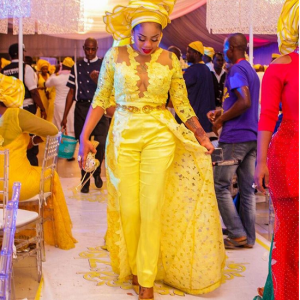 Photos : Toyin Lawani Stunns In Yellow