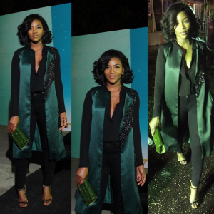 Photos : Genevieve Nnaji Steps Out In Style At LFDW 2015