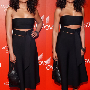 Photos : Taraji P Henson Looks Stunning  In Sexy Cut Out Black Dress