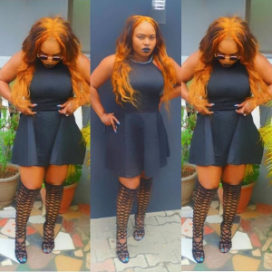 Halima Abubakar Steps Out  In Black Dress And Gladiator Sandals