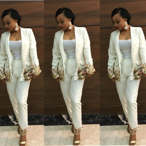 Toke Makinwa Stuns In White Pants For Silverbird's 35th Annniversary