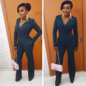 Photos :  Ini Edo Steps Out In Green Jumpsuit