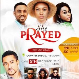 """She Prayed"" Ghanaian Actor Eddie Watson Set To Premiere New Movie In Sierra Leone"