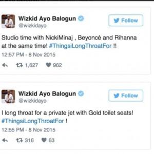 #ThingsILongThroatFor – Funny Wish TweetsFrom Celebrities