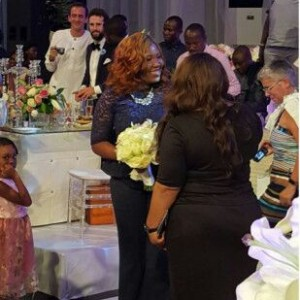 Photo : Sasha P Catches The Bouquet At Tosyn Bucknor's Wedding