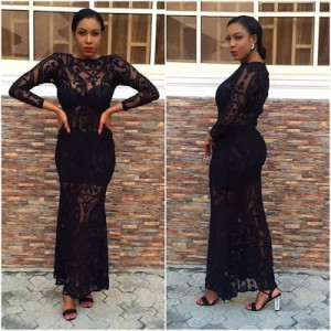 Actress Chika Ike Stuns In Black For Dinner Date