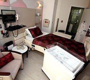 Photos : Inside The Luxury Maternity Suite Where Kim Kardashian Welcomed Baby Boy