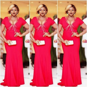 Waje Looks Beautiful In Red