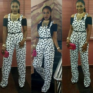 Ebube Nwagbo Rocks Jumpsuit For Movie Premiere
