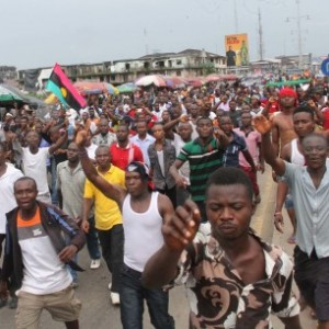 Onitsha Shut Down By Pro-Biafra Protesters