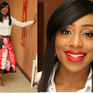 Photos : Dakore Akande Stuns In White Shirt And Floral Skirt