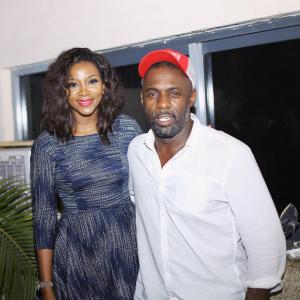 Genevieve Nnaji And Idris Elba At Beasts Of No Nation Lagos Premiere