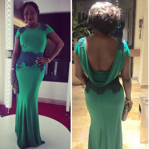Photos : Ini Edo Stuns In Green Dress