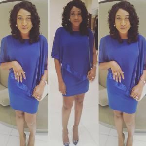 Oge Okoye Dazzles In Blue