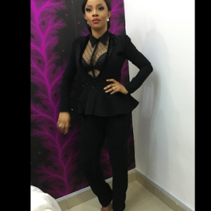 Photos : Toke Makinwa Steps Out In Pant Suit To OLIC Last Night
