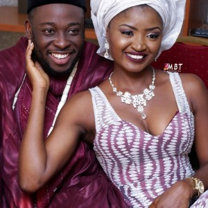 First Photos From Comedian Jedi & Jumoke's Traditional Wedding
