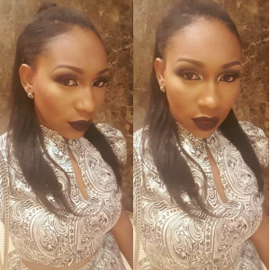 Ebube Nwagbo Stuns In Dark Lipstick