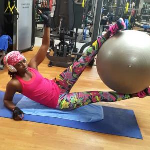 Photos :Kate Henshaw's Rigorous Morning Workout