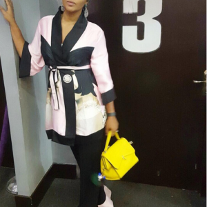 Lilian Esoro Stuns In Robe Inspired Outfit