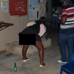 See Women Who Dance &Show Off Private Parts To Men In Exchange For Beer