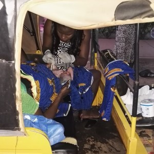 PHOTOS: Woman Puts To Birth In A Keke Napep Because There Was No One In The Hospital