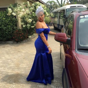 Photos : Anna Ebiere Steps Out Stunning In Blue Dress