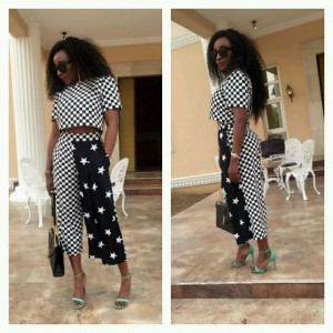 Photos : Ini Edo Steps Out In Stunning Monochrome Outfit