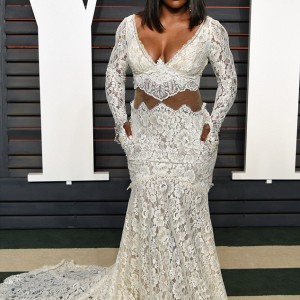 Serena Williams' And Kerry Washington's Revealing Outfits To Vanity Fair Oscars Party