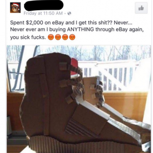 Man Orders Yeezy Boost 750 On eBay,See What He Got