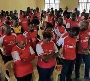 Arsenal Fans Organize Fasting & Prayer Ahead of Barcelona Match In Kaduna