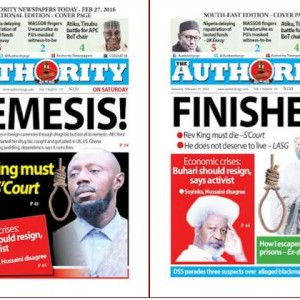 Check Out Today's Headlines On Authority Newspaper