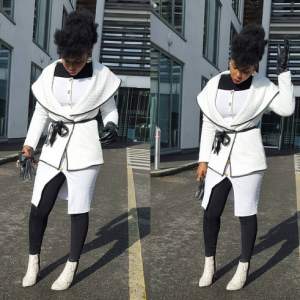 Yemi Alade Steps Out Stunning In Black And White Outfit